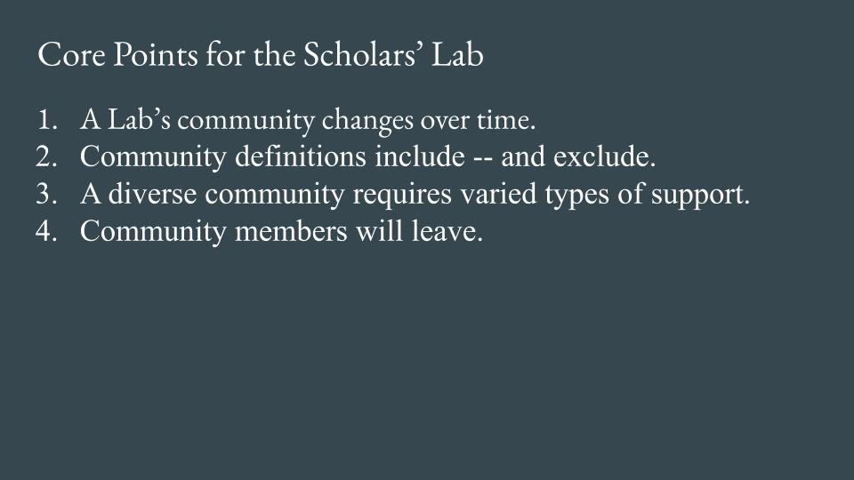 Slide - Point 4 - Community members will leave.
