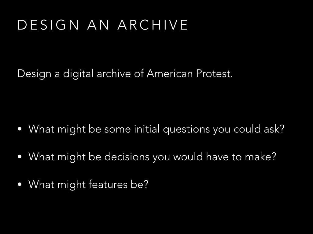 Design an archive