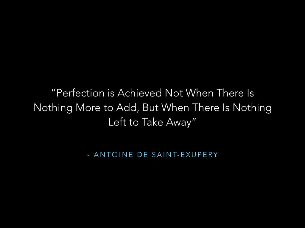 Quote from Antoine de Saint-Exupery