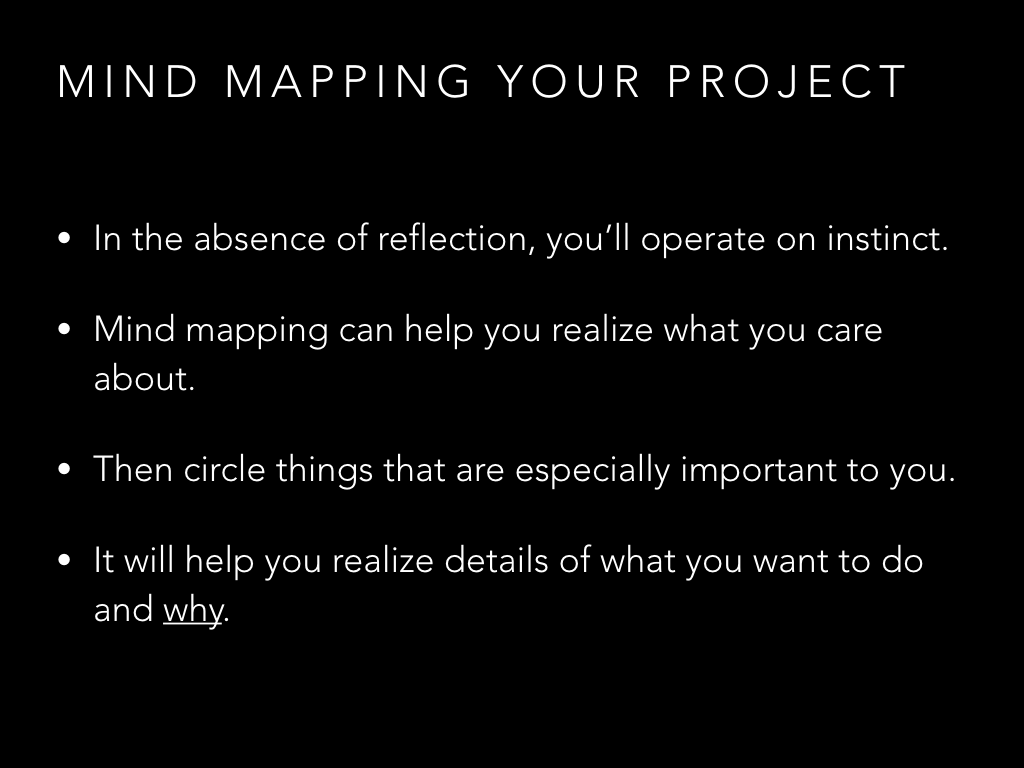 Why mind map your project