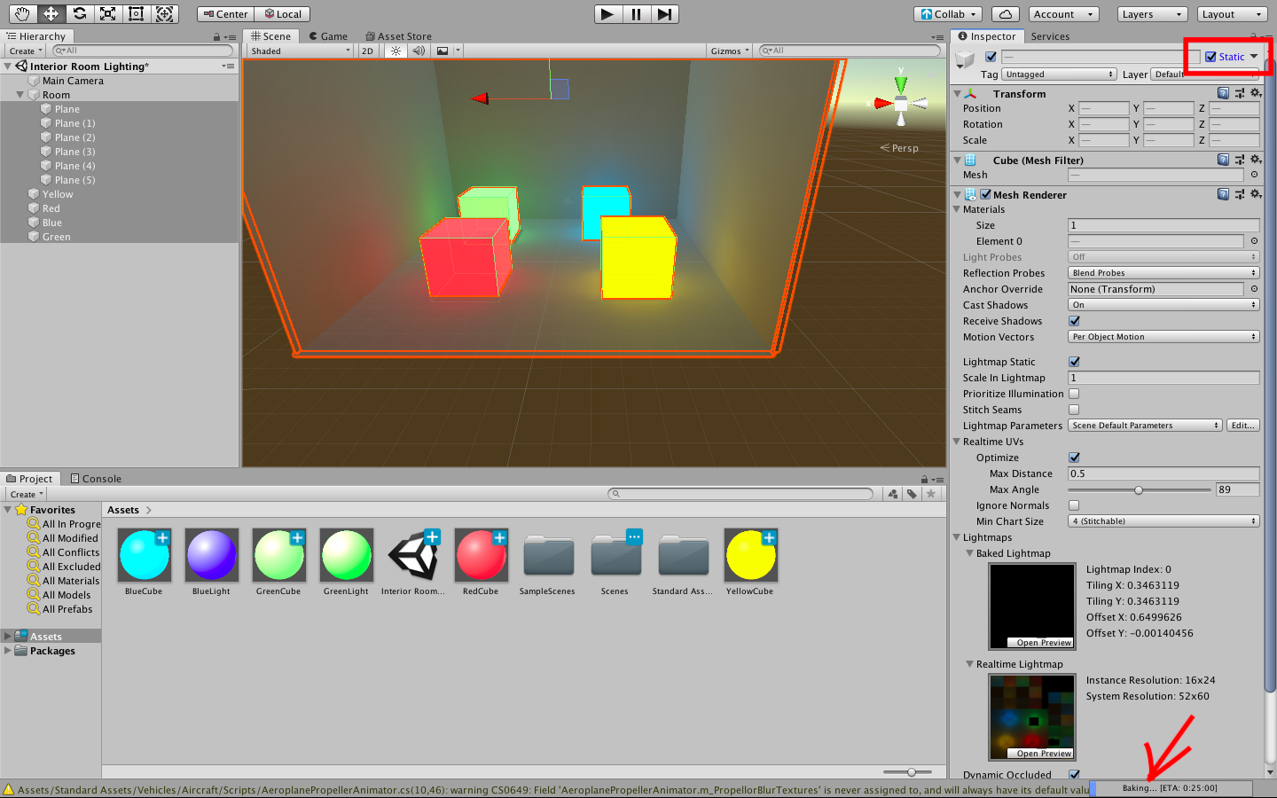 Baking a Lightmap