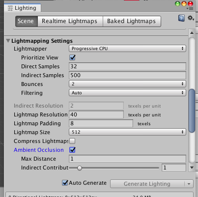 Lightmapping Settings