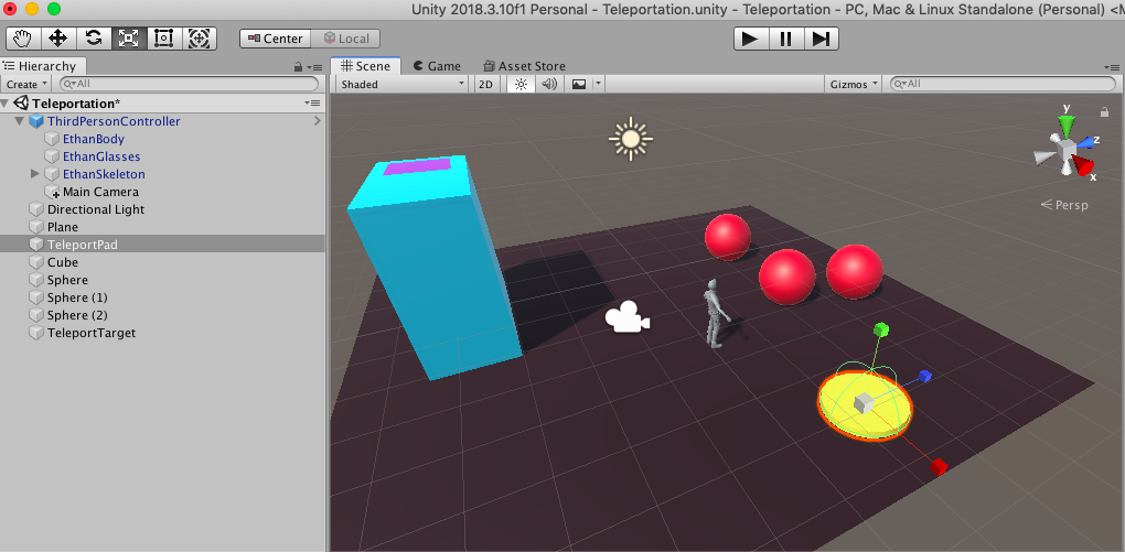 Teleporting in Unity 3D | Scholars' Lab