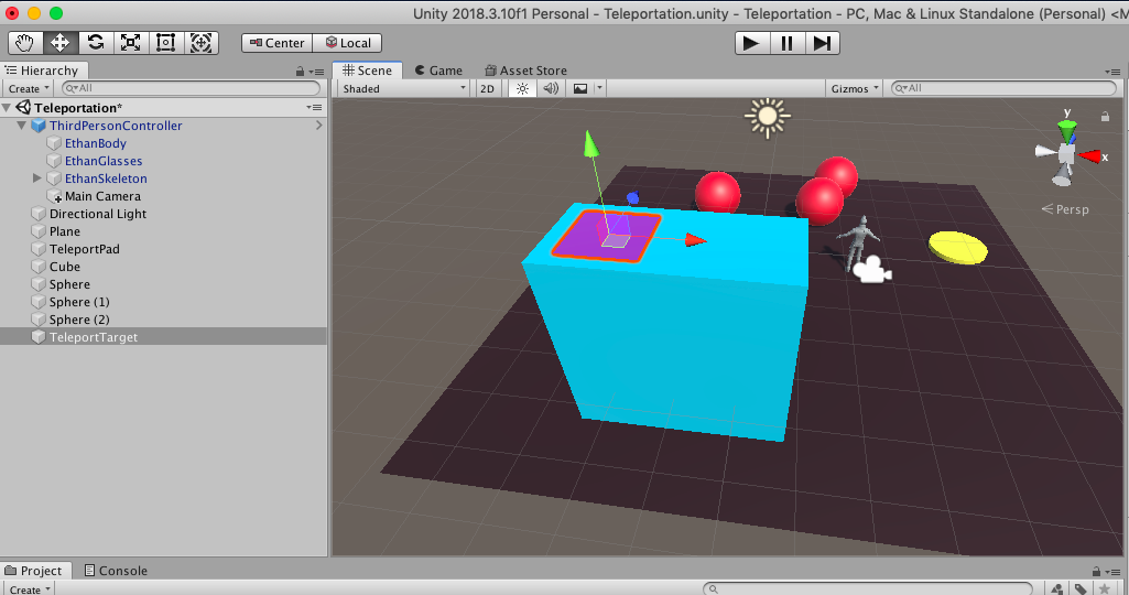 Teleporting in Unity 3D   Scholars' Lab